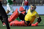 NED - Amsterdam, Netherlands, August 20: During the men Pool B group match between Germany (white) and Ireland (green) at the Rabo EuroHockey Championships 2017 August 20, 2017 at Wagener Stadium in Amsterdam, Netherlands. Final score 1-1. (Photo by Dirk Markgraf / www.265-images.com) *** Local caption *** David Harte #1 of Ireland