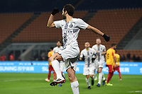 Antonio Candreva of Inter celebrates after scoring a goal <br /> Milano 13-1-2019 Stadio Giuseppe Meazza <br /> Football Italy Cup 2018/2019 Inter - Benevento <br /> Foto Image Sport  / Insidefoto