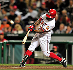 29 September 2009: Washington Nationals' fielder Willie Harris in action against the New York Mets at Nationals Park in Washington, DC. The Nationals rallied to defeat the Mets 4-3 in the second game of their final 3-game home series. Mandatory Credit: Ed Wolfstein Photo