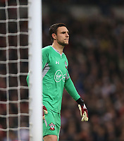 Southampton's Alex McCarthy<br /> <br /> Photographer Rob Newell/CameraSport<br /> <br /> The Premier League - Tottenham Hotspur v Southampton - Wednesday 5th December 2018 - Wembley Stadium - London<br /> <br /> World Copyright &copy; 2018 CameraSport. All rights reserved. 43 Linden Ave. Countesthorpe. Leicester. England. LE8 5PG - Tel: +44 (0) 116 277 4147 - admin@camerasport.com - www.camerasport.com