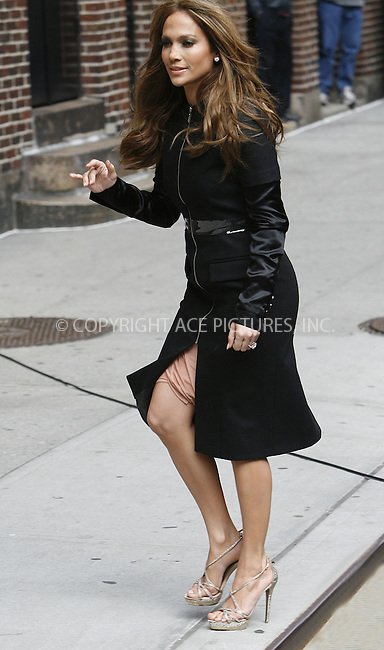 WWW.ACEPIXS.COM . . . . .  ....April 19 2010, New York City....Actress and singer Jennifer Lopez made an appearance at the 'Late Show with David Letterman' on April 19 2010 in New York City....Please byline: NANCY RIVERA- ACE PICTURES.... *** ***..Ace Pictures, Inc:  ..tel: (212) 243 8787 or (646) 769 0430..e-mail: info@acepixs.com..web: http://www.acepixs.com