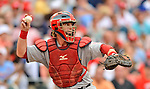 2 September 2012: St. Louis Cardinals catcher Bryan Anderson in action against the Washington Nationals at Nationals Park in Washington, DC. The Nationals edged out the visiting Cardinals 4-3, capping their 4-game series with three wins. Mandatory Credit: Ed Wolfstein Photo