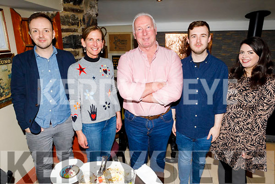 David Williams, Tina Conway, Kevin and Michelle Williams and Colm McNamara enjoying the evening in the Brogue Inn on Saturday.