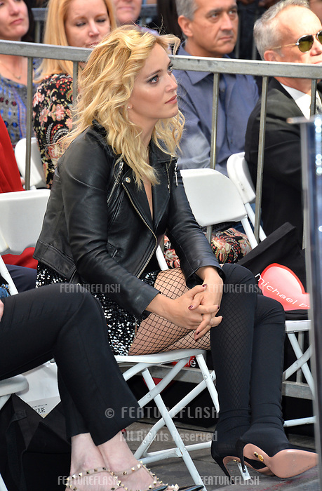 LOS ANGELES, CA. November 16, 2018: Luisana Lopilato at the Hollywood Walk of Fame Star Ceremony honoring singer Michael Bubl&eacute;.<br /> Pictures: Paul Smith/Featureflash