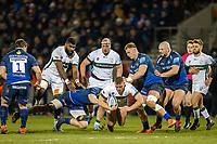 6th March 2020; AJ Bell Stadium, Salford, Lancashire, England; Premiership Rugby, Sale Sharks versus London Irish; Harry Elrington of London Irish is tackled