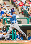 14 March 2016: Tampa Bay Rays outfielder Cade Gotta in action during a pre-season Spring Training game against the Atlanta Braves at Champion Stadium in the ESPN Wide World of Sports Complex in Kissimmee, Florida. The Ray fell to the Braves 5-0 in Grapefruit League play. Mandatory Credit: Ed Wolfstein Photo *** RAW (NEF) Image File Available ***