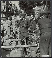 German prisoners of war awaiting departure Date: June 1945 Location: The Hague, South Holland
