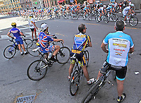 Amatorial Cyclist  during  the first stage of 96° Giro d''italia cycling race in Naples