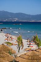 """Europe/France/2A/Corse du Sud/Ajaccio: """"Côté Plage""""plage de Brabicaggia le restaurant de plage de Jean-Jacques Lovichi"""