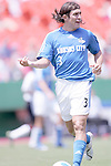 July 4 2007:  Nick Garcia (3) of the Wizards.  The MLS Kansas City Wizards lost to the visiting D.C. United 0-1 at Arrowhead Stadium in Kansas City, Missouri, in a regular season league soccer match.