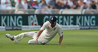 England's Alastair Cook fielding, slides to prevent a four<br /> <br /> Photographer Stephen White/CameraSport<br /> <br /> Investec Test Series 2017 - Second Test - England v South Africa - Day 3 - Sunday 16th July 2017 - Trent Bridge - Nottingham<br /> <br /> World Copyright &copy; 2017 CameraSport. All rights reserved. 43 Linden Ave. Countesthorpe. Leicester. England. LE8 5PG - Tel: +44 (0) 116 277 4147 - admin@camerasport.com - www.camerasport.com