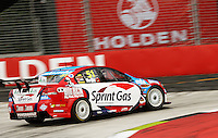 Sprint Car Racing's Greg Murphy takes Holden Corner during qualifying for Race Two during Day Three of the Hamilton 400 Aussie V8 Supercars Round Two at Frankton, Hamilton, New Zealand on Sunday, 19 April 2009. Photo: Dave Lintott / lintottphoto.co.nz