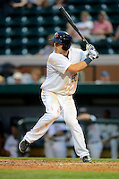 Lakeland Flying Tigers third baseman Jason King #50 during a game against the Brevard County Manatees on April 10, 2013 at Joker Marchant Stadium in Lakeland, Florida.  Brevard County defeated Lakeland 7-6.  (Mike Janes/Four Seam Images)