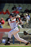 February 28 2010: Kevin David of Oklahoma State during game against Vanderbilt at Dodger Stadium in Los Angeles,CA.  Photo by Larry Goren/Four Seam Images