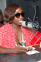 Estelle visits with WDAS and Power 99 on air in Bala Cynwyd, Pa on August 6, 2012  © Star Shooter / MediaPunchInc