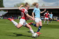 Kim Little of Arsenal Women and Keira Walsh of Manchester City Women during Arsenal Women vs Manchester City Women, FA Women's Super League Football at Meadow Park on 11th May 2019
