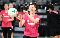 15.09.2012 Silver Ferns Bailey Mes in action at training at the Hisense Arena In Melbourne ahead of the first netball test match between the Silver Ferns and Australia. Mandatory Photo Credit ©Michael Bradley.