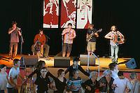 Fete de la langue bretonne.Kedal, groupe vainqueur ex aequo deu concours inter-lycees de musique traditionnelle 2011