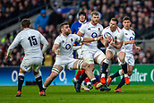 10th February 2019, Twickenham Stadium, London, England; Guinness Six Nations Rugby, England versus France; Chris Ashton of England catches the loose ball