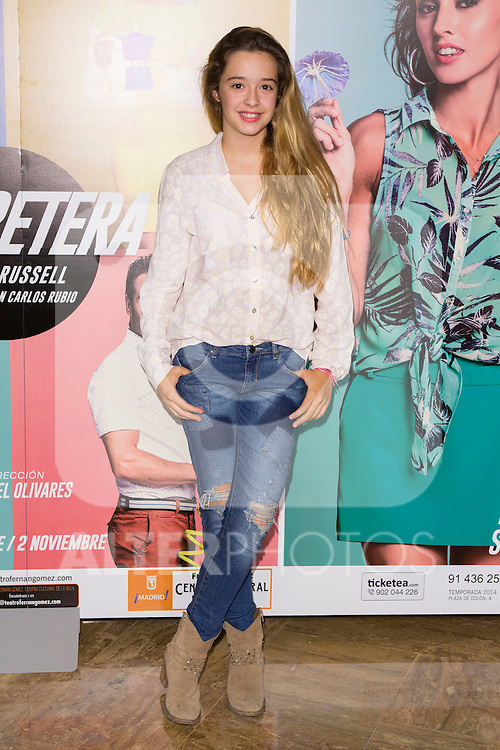"attends the Premiere of the Theater Play ""Al Final de la carretera"" at Fenan Gomez Theatre in Madrid, Spain. October 7, 2014. (ALTERPHOTOS/Carlos Dafonte)"