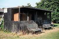 Covered area at Blofield United FC Football Ground, Old Yarmouth Road, Blofield, Norwich, Norfolk, pictured on 4th August 1996