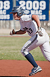 April 20, 2012:   Nevada Wolf Pack Sara Parsons on the bases against the University of Hawai'i Warrior during their NCAA softball game played at Christina M. Hixson Softball Park on Friday in Reno, Nevada.