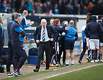 Mark Warburton turns away and can't believe it as Raith score in added on time