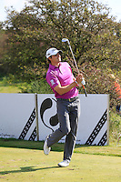 Peter Uihlein (USA) on the 3rd tee during Round 2 of the KLM Open at Kennemer Golf &amp; Country Club on Friday 12th September 2014.<br /> Picture:  Thos Caffrey / www.golffile.ie