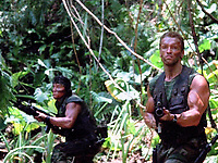 Predator (1987) <br /> Arnold Schwarzenegger &amp; Sonny Landham<br /> *Filmstill - Editorial Use Only*<br /> CAP/KFS<br /> Image supplied by Capital Pictures