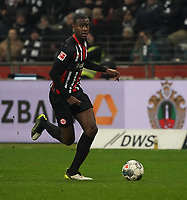 Evan N'Dicka (Eintracht Frankfurt) - 18.12.2019: Eintracht Frankfurt vs. 1. FC Koeln, Commerzbank Arena, 16. Spieltag<br /> DISCLAIMER: DFL regulations prohibit any use of photographs as image sequences and/or quasi-video.