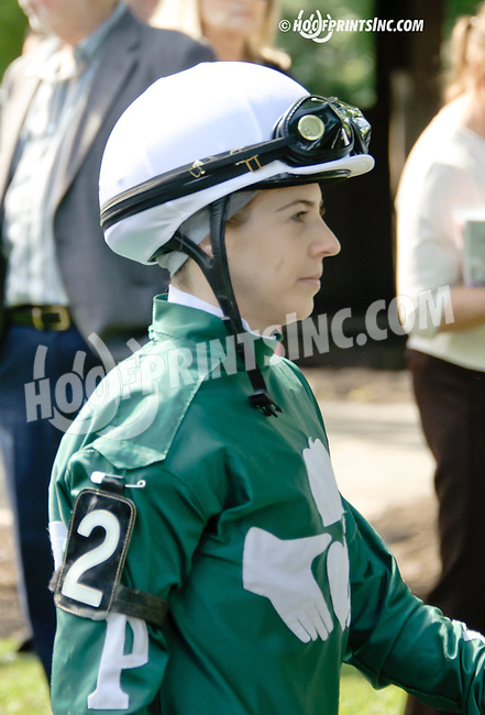 Cecily Evans before The Obeah Stakes (gr 3) at Delaware Park racetrack on 6/14/14