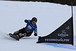 Parallel Slalom event of the FIS Snowboard World Cup on 19/12/2019 in Carezza, Italy.<br />  Masaki Shiba (JPN)
