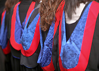 Post-graduate students at the Graduation Ceremony, University of Surrey.