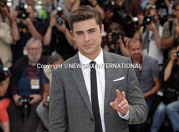 "Cannes,24.05.2012: ZAC EFRON.at ""The Paperboy""  photocall, 65th Cannes International Film Festival..Mandatory Credit Photos: ©Traverso-Photofile/NEWSPIX INTERNATIONAL..**ALL FEES PAYABLE TO: ""NEWSPIX INTERNATIONAL""**..PHOTO CREDIT MANDATORY!!: NEWSPIX INTERNATIONAL(Failure to credit will incur a surcharge of 100% of reproduction fees)..IMMEDIATE CONFIRMATION OF USAGE REQUIRED:.Newspix International, 31 Chinnery Hill, Bishop's Stortford, ENGLAND CM23 3PS.Tel:+441279 324672  ; Fax: +441279656877.Mobile:  0777568 1153.e-mail: info@newspixinternational.co.uk"