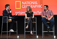 "NORTH HOLLYWOOD - MAY 20: Moderator Ben Travers, and Executive Producers Kelly Souders and Brian Peterson attend an FYC event for National Geographic's ""The Hot Zone"" at the Television Academy on May 20, 2019 in North Hollywood, California. (Photo by Frank Micelotta/National Geographic/PictureGroup)"