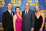 "David Hein, Irene Sankoff, Christopher Ashley and Kelly Devine attends the ""Come From Away"" Broadway Opening Night After Party at Gotham Hall on March 12, 2017 in New York City."