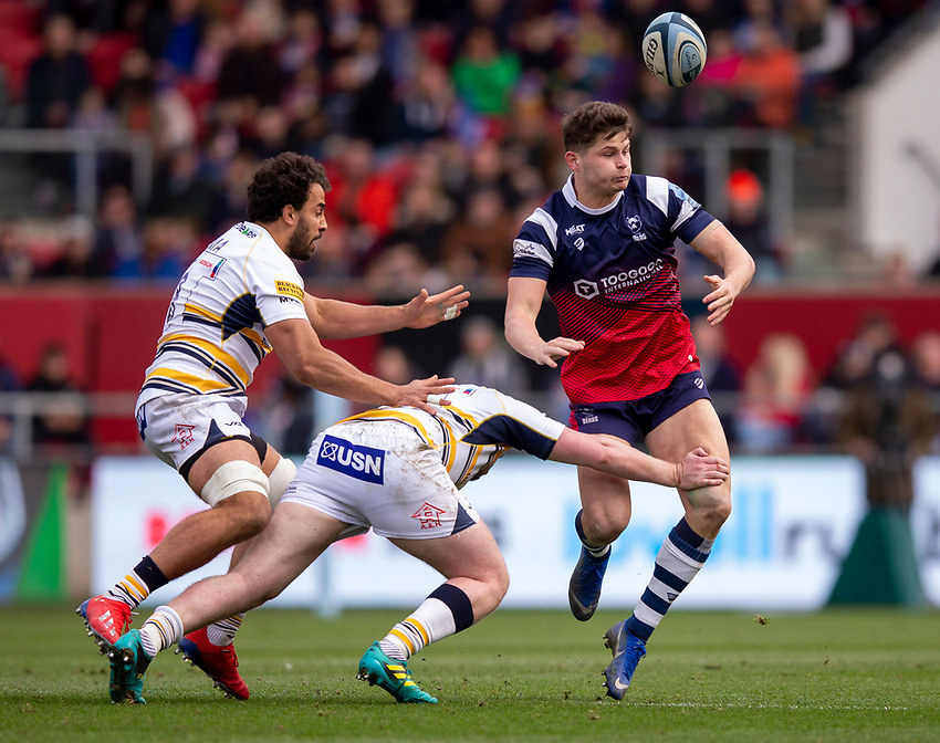 Bristol's Piers O'Conor in action during todays match<br /> <br /> Photographer Bob Bradford/CameraSport<br /> <br /> Gallagher Premiership - Bristol Bears v Worcester Warriors - Saturday 23rd March 2019 - Ashton Gate - Bristol<br /> <br /> World Copyright © 2019 CameraSport. All rights reserved. 43 Linden Ave. Countesthorpe. Leicester. England. LE8 5PG - Tel: +44 (0) 116 277 4147 - admin@camerasport.com - www.camerasport.com