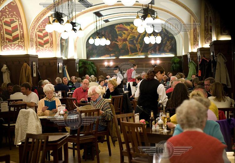 Restaurant Auerbachs Keller inside the Maedler Passage in Leipzig.