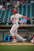 Chattanooga Lookouts Jose Siri (2) at bat during a Southern League game against the Birmingham Barons on May 2, 2019 at Regions Field in Birmingham, Alabama.  Birmingham defeated Chattanooga 4-2.  (Mike Janes/Four Seam Images)