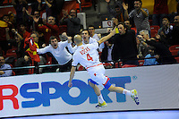 21.01.2013 World Championshio Handball. Match between Spain vs Serbia (31-20) at the stadium Principe Felipe. The picture show  Albert Rocas Comas (Right Wing of Spain).