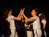 STANFORD, CA - February 22, 2019: Alanna Smith, Lacie Hull at Maples Pavilion. The Stanford Cardinal defeated the Arizona Wildcats 56-54.