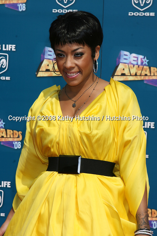 Keyshia Cole arriving  at the BET Awards at the Shrine Auditorium in Los Angeles, CA on.June 24, 2008.©2008 Kathy Hutchins / Hutchins Photo .