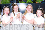 Katie Cronin, Aine Brosnan, Shauna O'Connor and Shauna Cronin who received their first holy Communion in Kilcummin on Saturday.   Copyright Kerry's Eye 2008