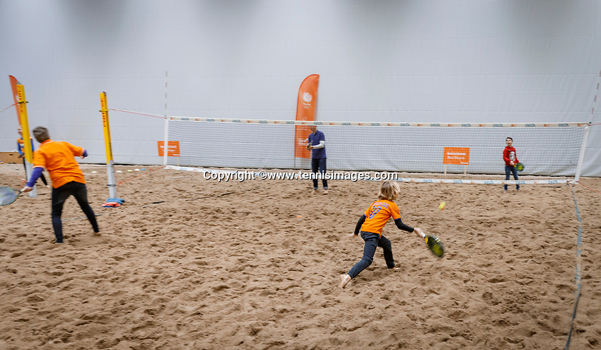 The Hague, The Netherlands, Februari 8, 2020,    Sportcampus, FedCup  Netherlands -  Balarus, Beachtennis<br /> Photo: Tennisimages/Henk Koster