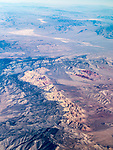 Red Rock Canyon NCA, Nevada, from a window seat–America's flyover country: SMF-LAX-MDW