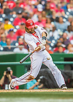 14 May 2016: Washington Nationals outfielder Jayson Werth at bat during the first game of a double-header against the Miami Marlins at Nationals Park in Washington, DC. The Nationals defeated the Marlins 6-4 in the afternoon matchup.  Mandatory Credit: Ed Wolfstein Photo *** RAW (NEF) Image File Available ***