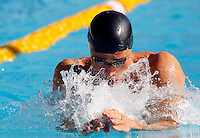 Trofeo Settecolli di nuoto al Foro Italico, Roma, 13 giugno 2013.<br /> Fabio Scozzoli, of Italy, competes in the men's 100 meters breaststroke at the Sevenhills swimming trophy in Rome, 13 June 2013.<br /> UPDATE IMAGES PRESS/Isabella Bonotto