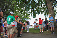 Tommy Fleetwood (ENG) heads to the 10th tee during Saturday's round 3 of the World Golf Championships - Bridgestone Invitational, at the Firestone Country Club, Akron, Ohio. 8/5/2017.<br /> Picture: Golffile | Ken Murray<br /> <br /> <br /> All photo usage must carry mandatory copyright credit (&copy; Golffile | Ken Murray)