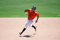 GCL Orioles right fielder Tristan Graham (24) running the bases during a game against the GCL Twins on August 11, 2016 at the Ed Smith Stadium in Sarasota, Florida.  GCL Twins defeated GCL Orioles 4-3.  (Mike Janes/Four Seam Images)