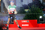 Elia Viviani (ITA) Quick-Step Floors wins the final Stage 21 his 3rd stage victory of the La Vuelta 2018, running 100.9km for Alcorcon to Madrid, Spain. 16th September 2018.                   <br /> Picture: Unipublic/Photogomezsport | Cyclefile<br /> <br /> <br /> All photos usage must carry mandatory copyright credit (© Cyclefile | Unipublic/Photogomezsport)